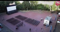 Cinema America, il time-lapse dell'arena al Liceo Kennedy