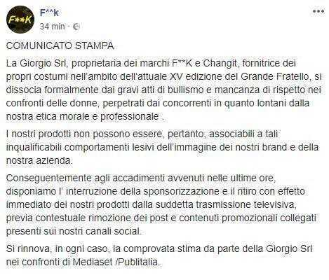 Grande Fratello 15 litigio tra concorrenti: